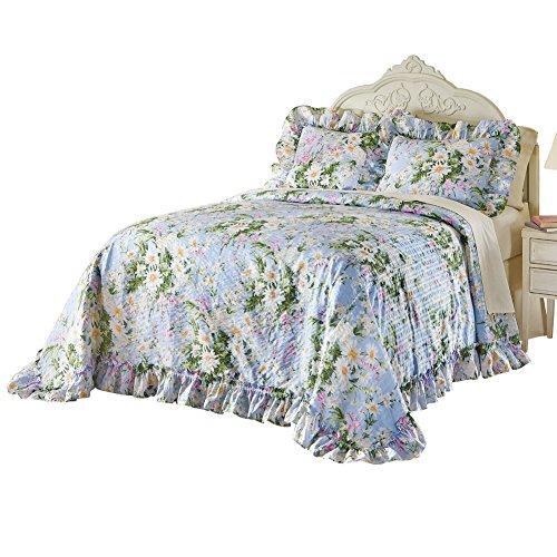 Daisy Meadow Ruffle Plisse Bedspread Multi Twin, Multi, Twin
