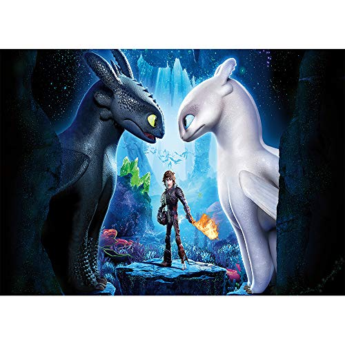 How to Train Your Dragon Theme Backdrops for Happy Birthday 7x5ft Diamond Mountain Dream Factory Character Photo Backgrounds Boys and Girls Birthday Party Desktop Customized]()