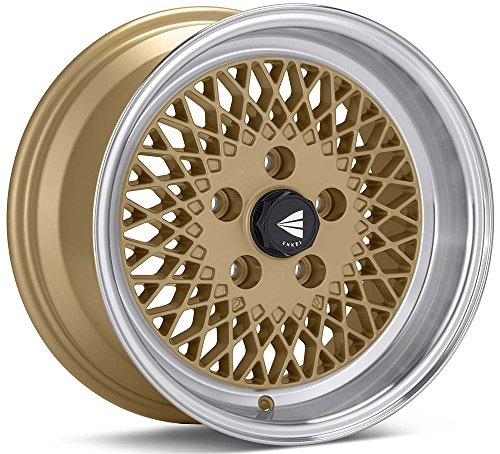 15x7 Enkei ENKEI92 (Gold w/ Machined Lip) Wheels/Rims 4x114.3 (465-570-4838GG)