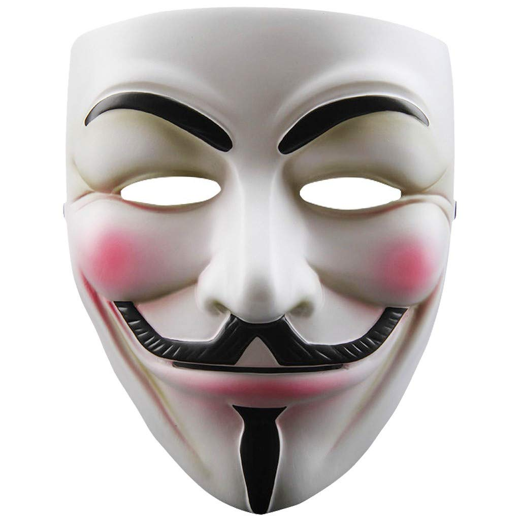 V for Vendetta Anonymous Guy Fawkes Resin Cosplay Mask Party Costume Prop Toys White by ZLLJH (Image #1)