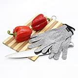 DecoStain Cut Resistant Gloves, Level 5 Protection, Food Grade, Kitchen Glove for Cutting and Sliving, Safty Grade Gloves for Hand Protection,Yard Work,Wood Carving (small)