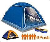 tenda campeggio 6 posti canadese igloo campeggio mare viaggio con...