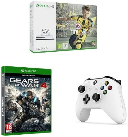 Xbox One - Consola S 1 TB + FIFA 17 + Gears Of War 4 + mando ...