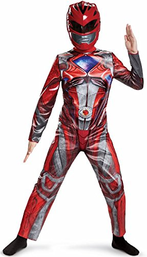 Power Ranger Movie Classic Costume, Red, Small (4-6)