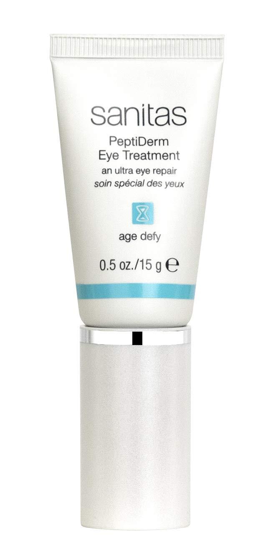 Sanitas Skincare PeptiDerm Eye Treatment, Multibenefit, Daily Eye Therapy, 0.5 Ounce