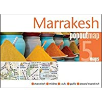 Marrakesh PopOut Map: Handy pocket size pop up city map of Marrakesh