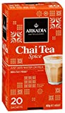 ARKADIA Beverages Chai Tea Spice 20 Sachets 98% Fat Free | Powerful Black Tea Flavors, Antioxidants & Exotic Ingredients | For Hot, Iced & Latte Drinks | Improve Immune System & Promote Weight Loss
