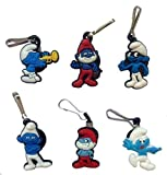 Smurfs Snap Hook Zipper Pulls 6 Pcs Set #1
