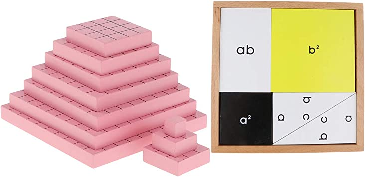 Injoyo Wooden Cubic Blocks /& Pythagoras Theorem Jigsaw Puzzles Montessori Toy