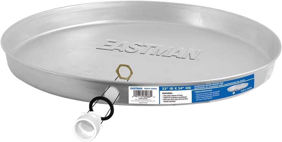 Eastman 60080 Water Heater Pan Silver 20 ID x 22 OD Aluminum