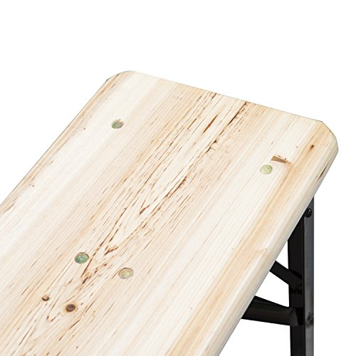 Outsunny 6ft Wooden Folding Picnic Benches