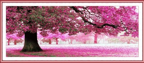 Cross stitch [Taiki cherry tree in full bloom landscape embroidery kit] sewing embroidery set