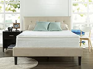 Zinus Sleep Master Ultima Comfort 13 Inch Deluxe Euro Box Top Spring Mattress, Queen
