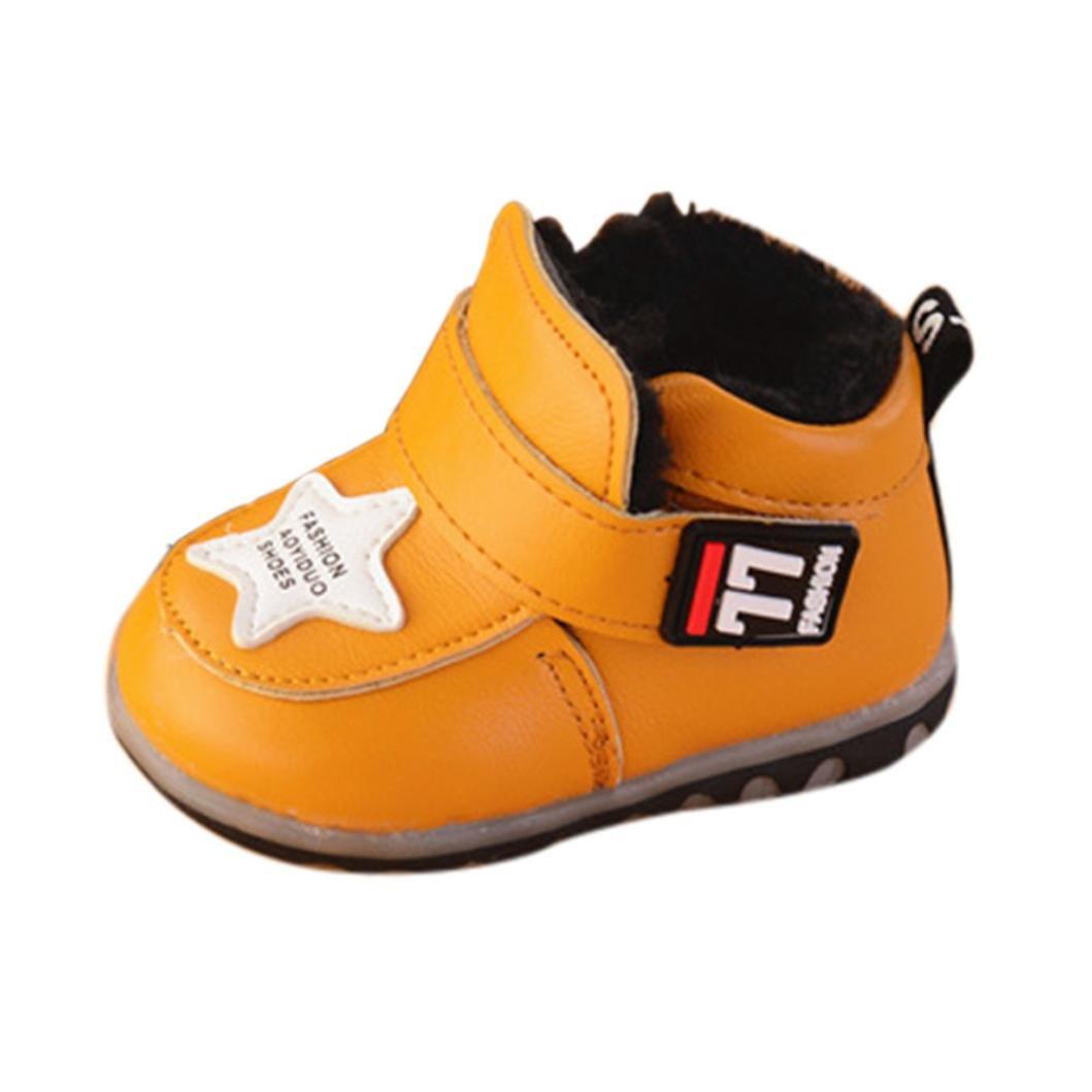 Babyschuhe Sneaker,LianMeng Baby Turnschuh LED Beschuht Mä dchen Jungen Lederschuhe Winter Kleinkind Schuhe (16 (6M), Yellow) LMMVP