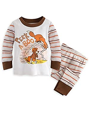 Disney The Fox and the Hound PJ PALS Pajamas for Baby Brown