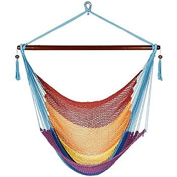 Amazon Com Cctro Hanging Rope Hammock Chair Swing Seat