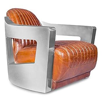 Design Sessel Churchill Lounge Hochwertiges Leder Stahl Amazon