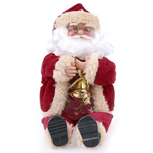 YOOYOO 1pcs Santa Claus Toy 25cm / 10 inch Christmas Gift Doll Flannel Toys Xmas Decor