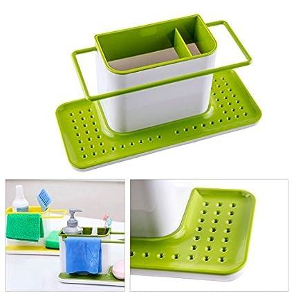 Velveeta Kitchen 3 In 1 Sink Caddy Organizer Kitchen Soap ,Sponge Holder  ,Cloth And