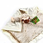 Treasure-Trades-Stuffed-Sloth-Lovey-Soother-Plush-Security-Blanket-12×12-Slothey