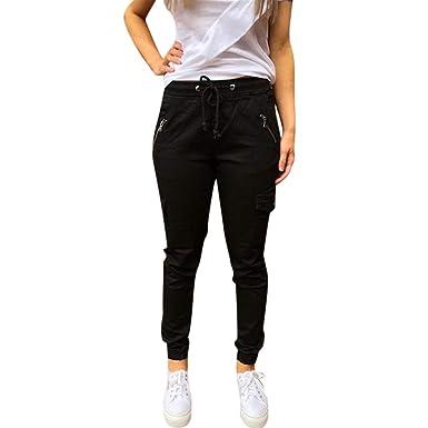 BOLAWOO-77 Pantalones Casuales para Mujer Tallas Grandes ...