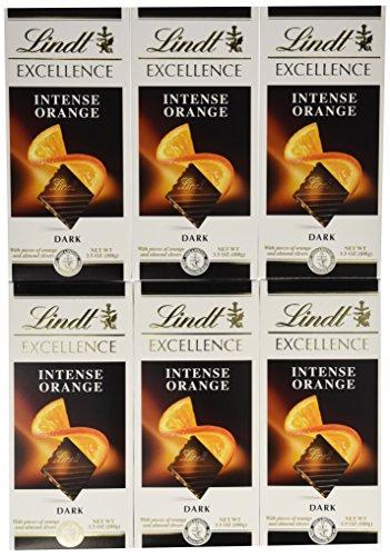 Lindt Master Chocolatier Excellence Intense Orange, Dark, 3.5-Ounce (Pack 12)