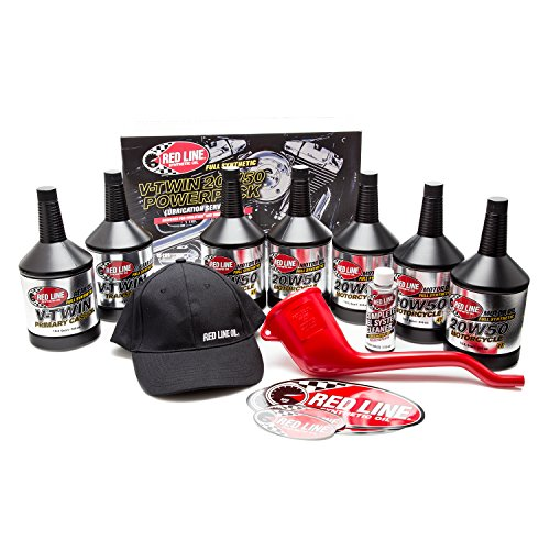 Red Power Package (RedLine  90226 Big Twin 20w 50 Power Pack Oil Package)