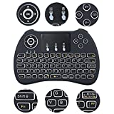 2.4GHz Mini Hand-held Wireless QWERTY Keyboard Remote Controller Fit for H9 Air Mouse Combo Ergonomic Design, for Smart TV Box PC Android TV Box M8s Plus Z4 Qbox K1 Plus