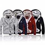 Close-dole Men's Winter Fleece Lined Hoodies Sweat