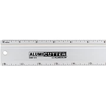 Black Aluminum Safety Ruler and Straight Edge 1316-9 36 inches Alumicolor Alumicutter