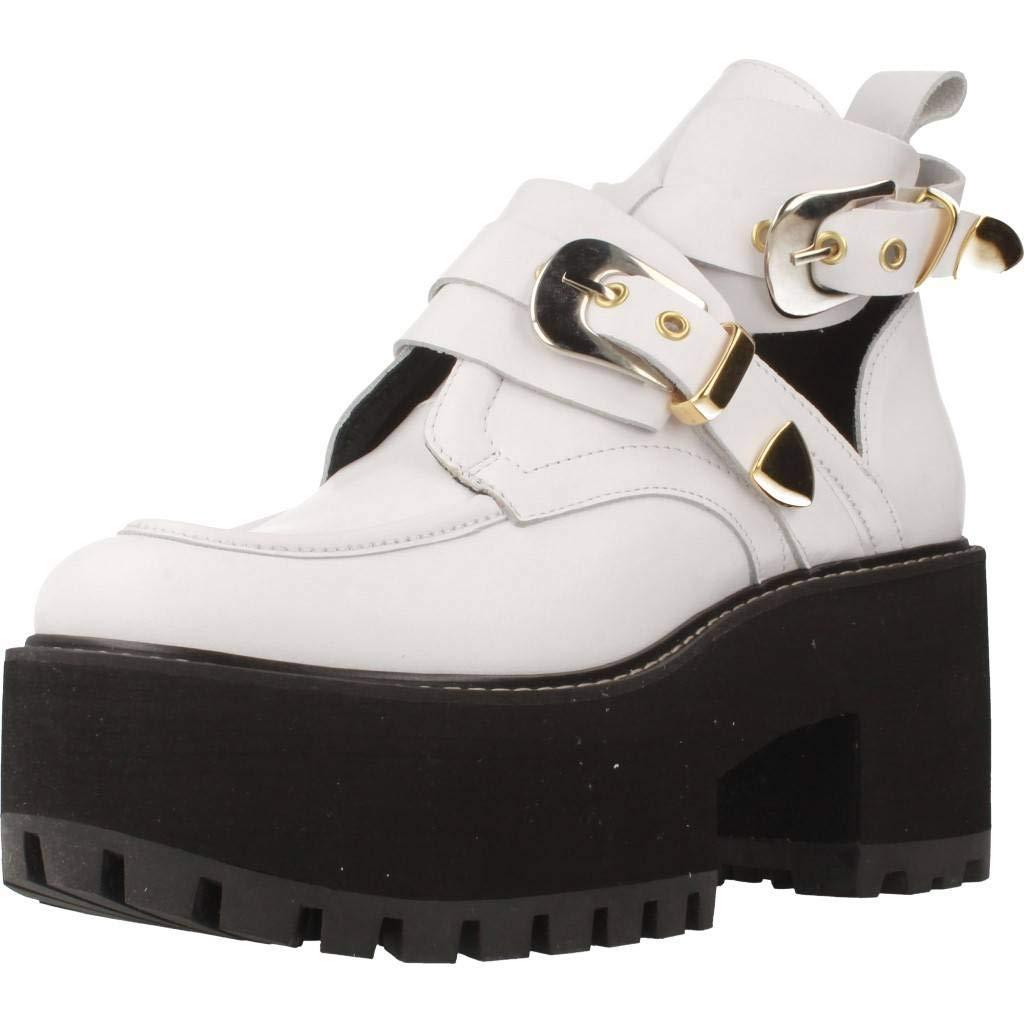 Unbekannt Stiefelleten Stiefel Damen, Farbe Weiß, Marke Gelb, Modell Stiefelleten Stiefel Damen Gelb Raven Weiß