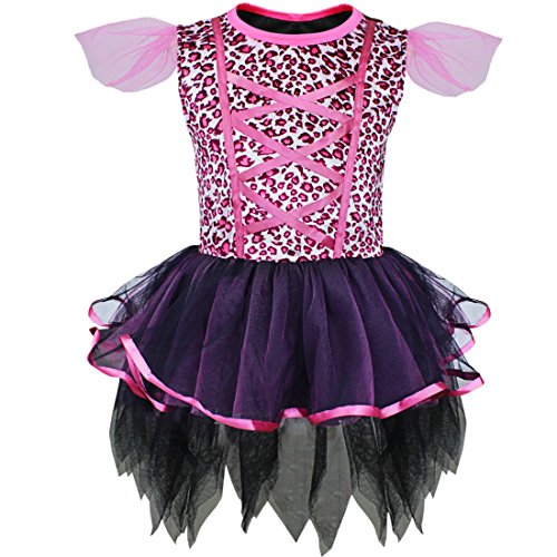 Pink Leopard Infant Costumes (YiZYiF Baby Girls Cat Leopard Outfits Halloween Costume Christmas Fancy Dress 3-4)