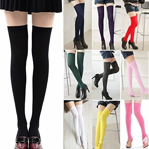 Price comparison product image Women Cable Knit Extra Long Boot Socks Over Knee Thigh High School Girl Stocking,Pink