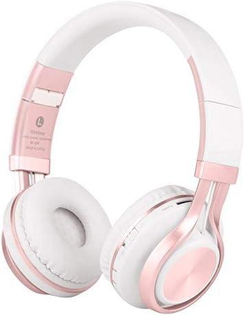 Cascos Bluetooth Inalámbrico, shsyue 4 en 1 Hi-Fi Deep Bass Auriculares inalámbricos sobre Oreja con micrófono Micrófono/FM/TF Tarjeta/AUX para PC TV Teléfonos Inteligentes y tabletas (Rosa Blanca): Amazon.es: Electrónica