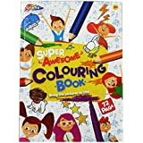 A4 Childrens Grafix Super-Awesome Colouring Book - 72 Pages, Perfect Bound