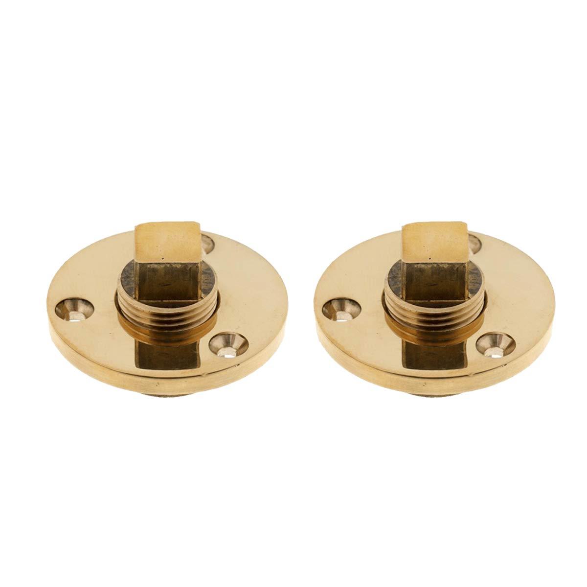 Boat Brass drain plug bilge drian plug Garboard Drain /& Plug threaded drain