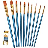 BOSOBO Art Paint Brush Set - Let your creativity flow freely   Package contains a large variety of shapes and sizes, allowing you to paint anything and everything of your imagination. Ideal for amateurs, professionals and painters of all l...