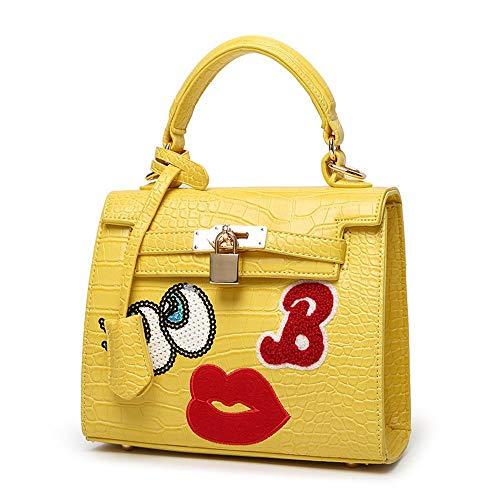 Maerye Borsa moda donna borsa a tracolla singola borsa grandi occhi labbro rosso del fumetto A