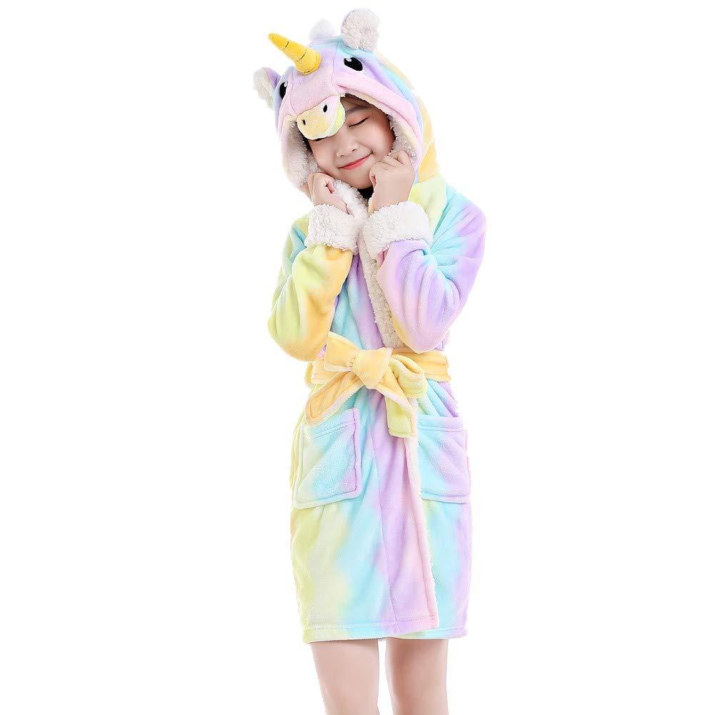 ec194f3edd324 Amazon.com: NEWCOSPLAY Unisex Bathrobe Children's Unicorn Robe Hooded  Sleepwear: Clothing