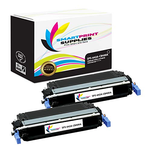 Smart Print Supplies Compatible 642A CB400A Black Toner Cartridge Replacement for HP Color Laserjet CP4005 Printers (7,500 Pages) - 2 Pack ()