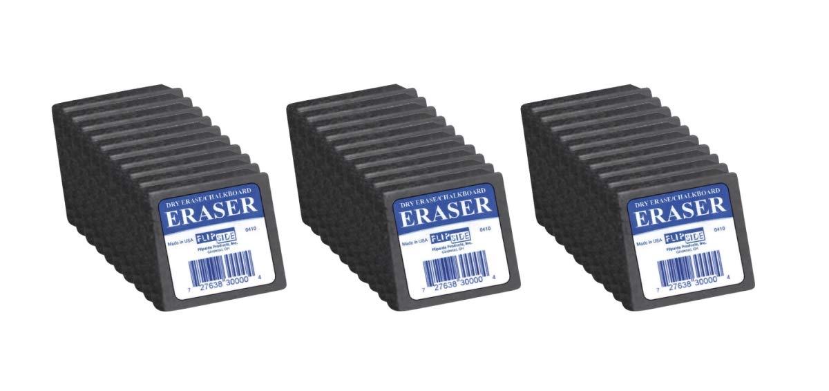 Flipside Products 1498526 Flipside Student Dry-erase Eraser, 2 x 2 in, Felt - Pack of 30