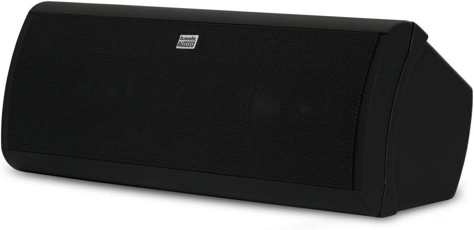 Acoustic Audio by Goldwood Acoustic Audio AA40CB Indoor Center 3 Way Speaker 500 Watts Black Bookshelf, 4-Inch