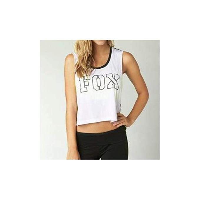8ffe00d9b Image Unavailable. Image not available for. Color: Fox Racing Women's  Blocked Crop Muscle Tank Top ...