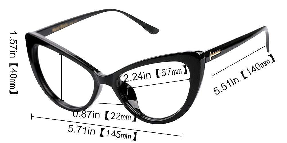 d16c85448a5 SOOLALA Womens Oversized Fashion Cat Eye Eyeglasses Frame Large Reading  Glasses