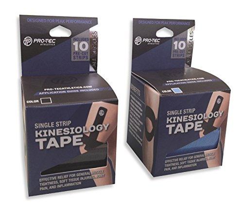 Pro-Tec Athletics Kinesiology Tape-Single Roll-10/Roll - Black