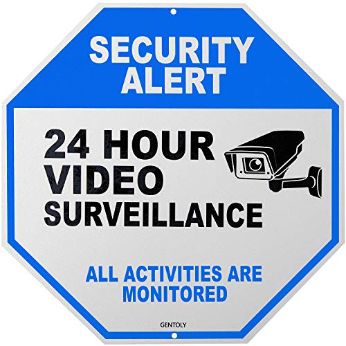 Video Surveillance Sign - Home Security Sign - Security Camera Sign - All Activities are Monitored - Rust Free 12 x 12 Aluminum Sign, by Gentoly