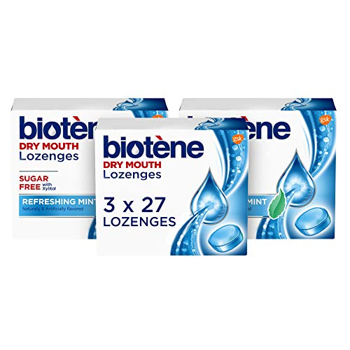 Biotene Dry Mouth Lozenges for Dry Mouth and Fresh Breath, Dry Mouth Relief and Breath Freshener, Refreshing Mint – 27…