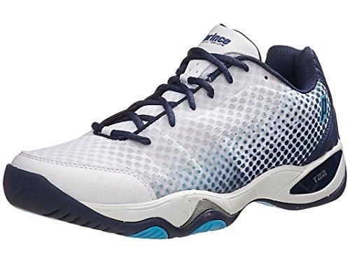 Prince Men's T22 Lite Tennis Shoes (White/Navy/Cool Blue) (11.5 D(M) (Prince Court Shoes)