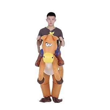 Anself Costume de Gonflable de Cow-boy à Cheval Drôle pour Adulte  Déguisement Halloween Cosplay 7d6865f5c54