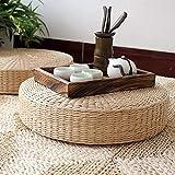 WHEEJE Stuffed 40cm Tatami Cushion Round Straw